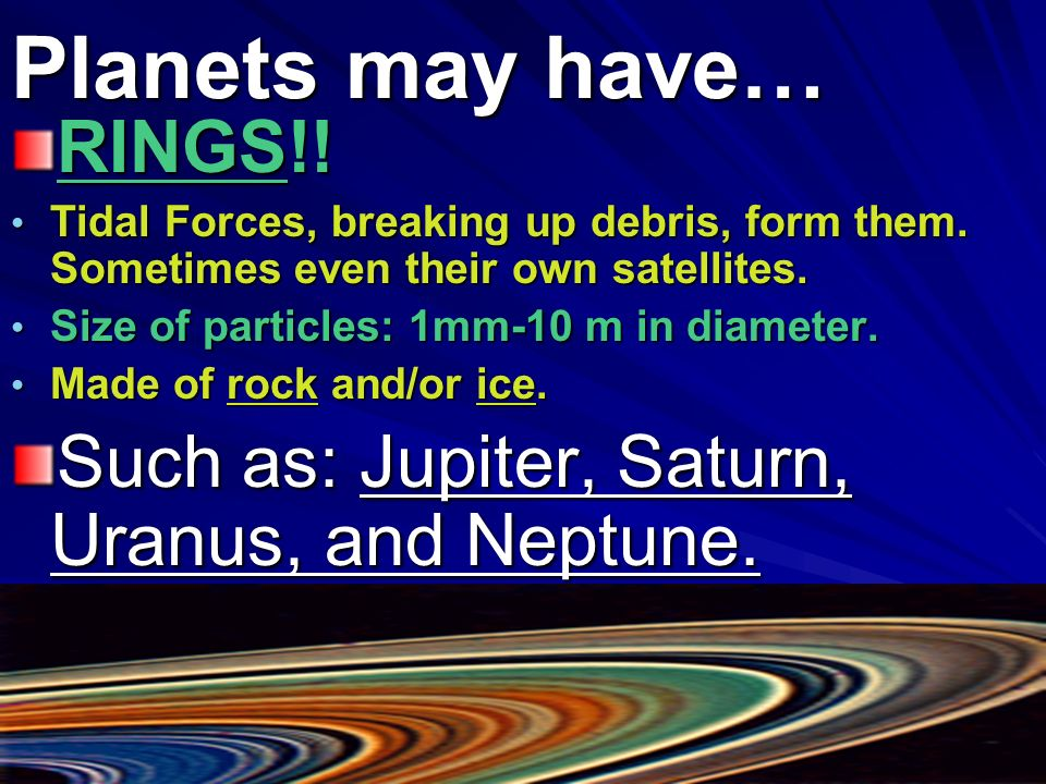 Planets may have… RINGS!!