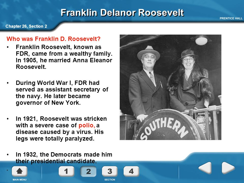 franklin delanor roosevelt 32nd united states president cousin of theodore roosevelt, he graduated from harvard and earned a law degree at columbia university he later became a democratic senator for the state of new york.