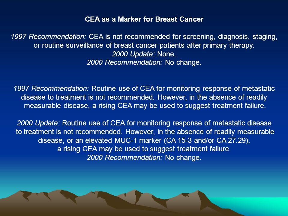 CEA as a Marker for Breast Cancer