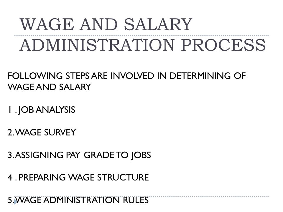 wages and salary administration Elk asia pacific journals - special issue isbn: 978-81-930411--9 a study on wage and salary administration at bangalore city mrs shamalad, lecturer in department of commerce & management.