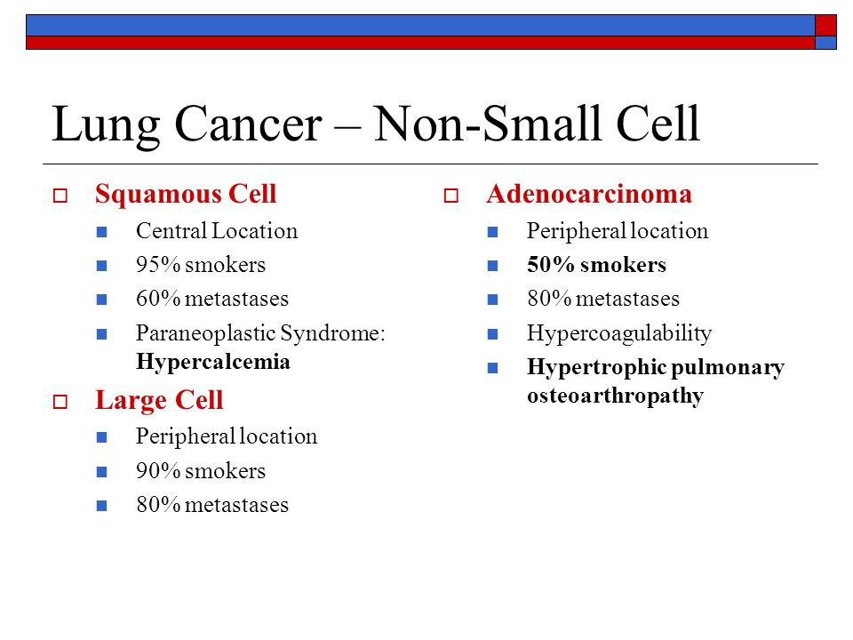 Lung Cancer: Treatments photo