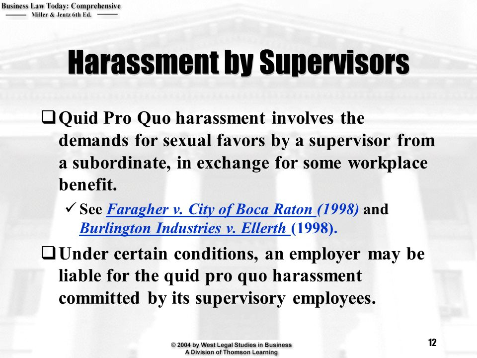 Harassment by Supervisors