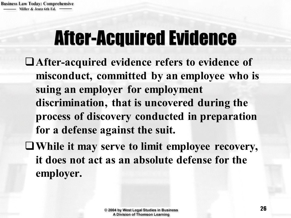 After-Acquired Evidence