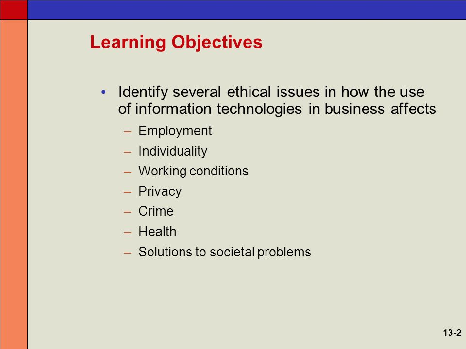 ethical issues in business An ethical issue brings systems of morality and principles into conflict unlike most conflicts that can be disputed with facts and objective truths, ethical issues.