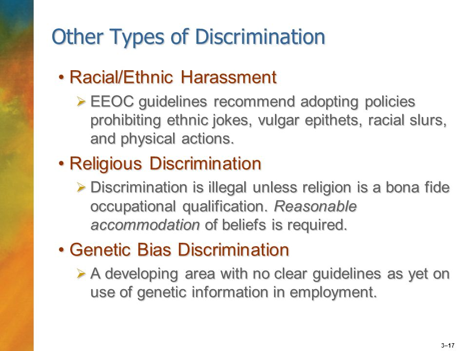 an analysis of the bona fide occupational qualification and the sexual discrimination The bona fide occupational qualification is defined as identifiable characteristics reasonably necessary to the normal operation of a particular business and these characteristics include gender, national origin and religion, but not race (miller & jentz, pg g-3, 2010).