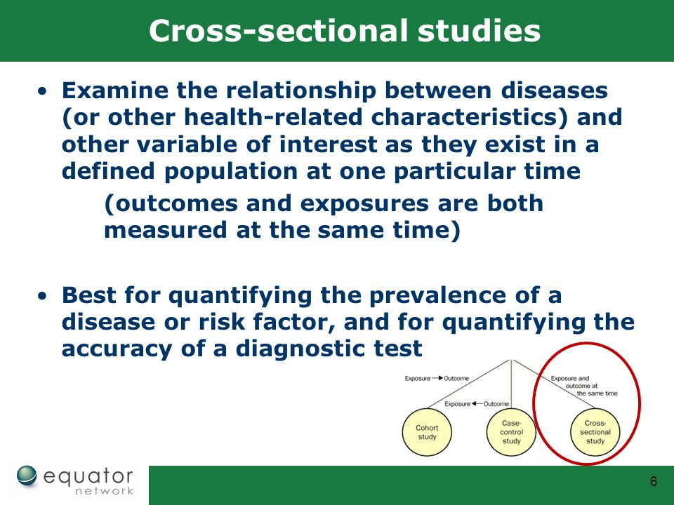 6 Cross Sectional Studies