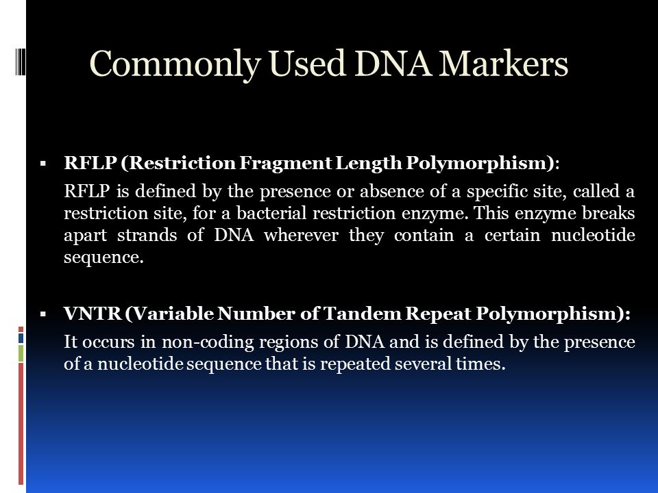 Reading the blueprint of life ppt video online download 11 commonly used dna markers malvernweather Gallery
