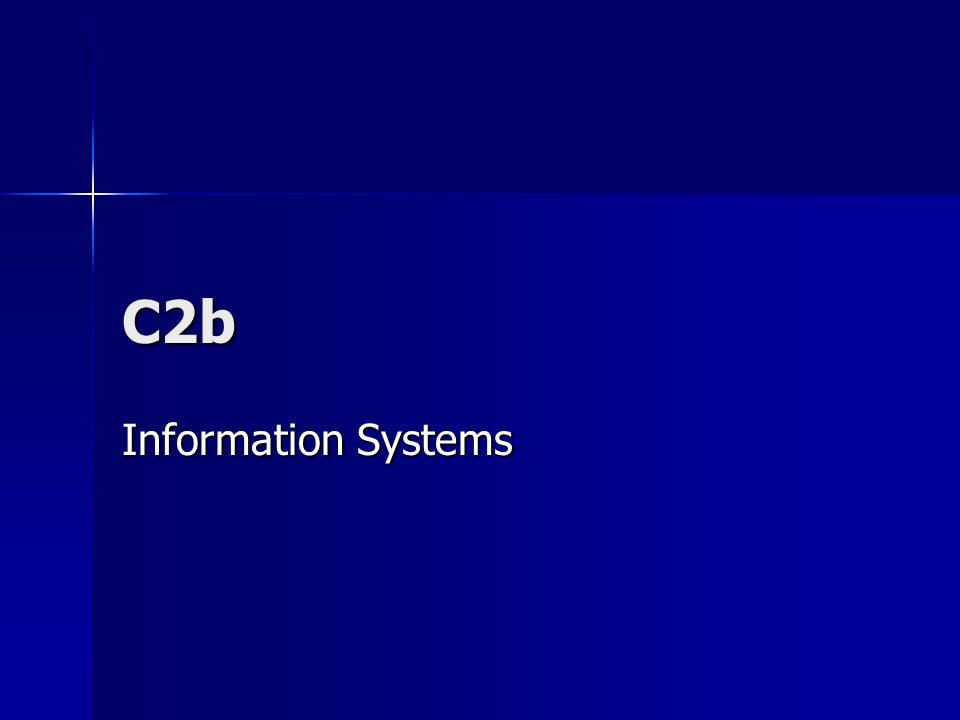 C2b Information Systems