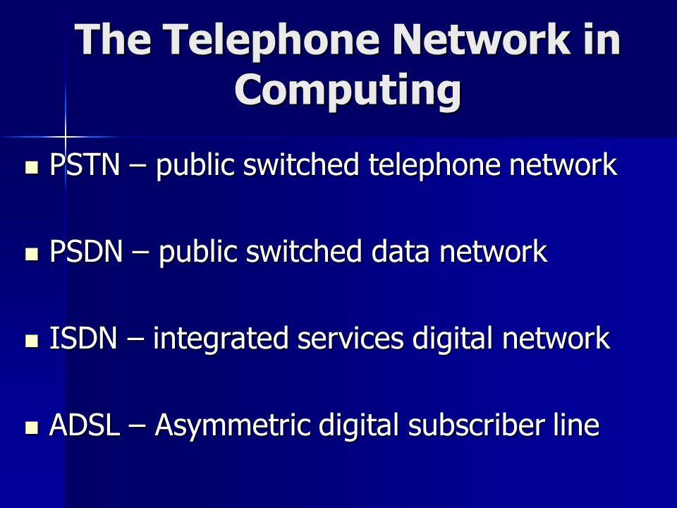 The Telephone Network in Computing