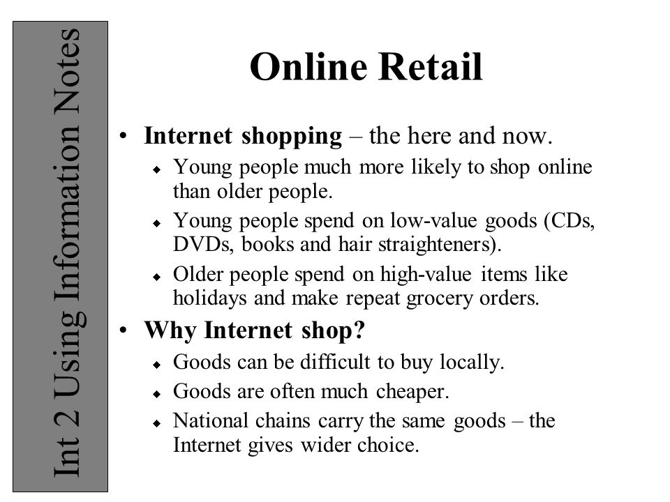 wider online shopping