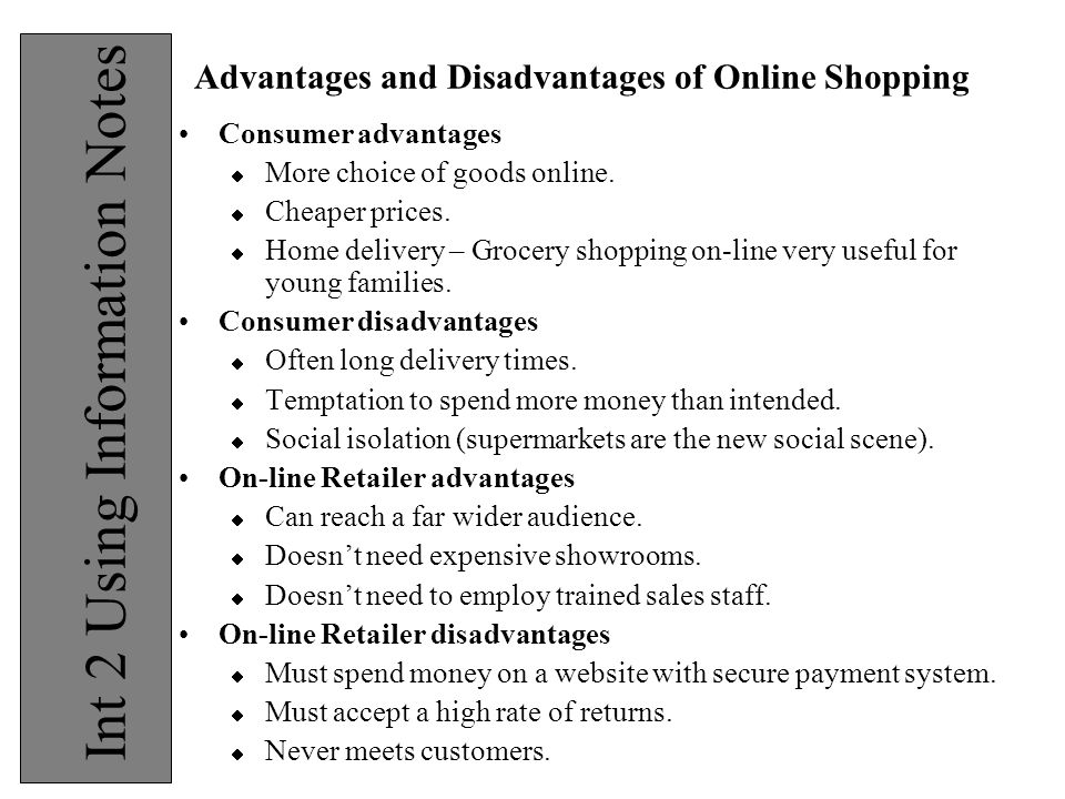 advantages of shopping online essay