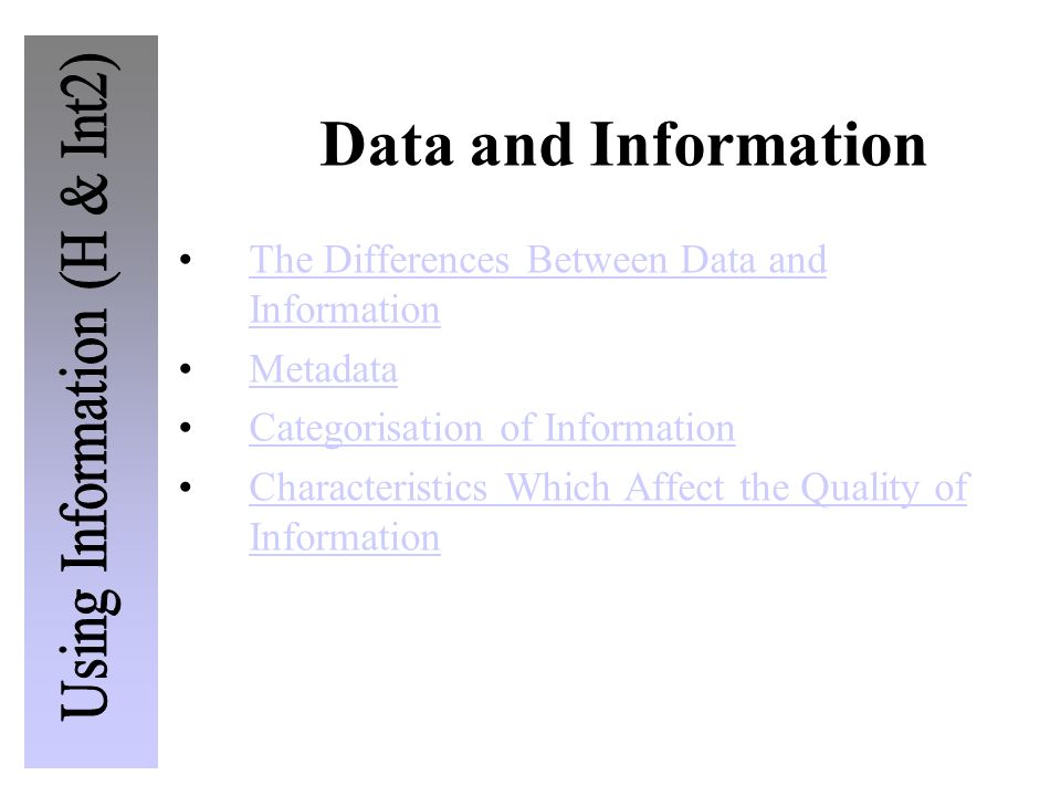"""differences between data and information This blog takes the next step to discuss the difference between information governance and data governance as a reminder, """"information = data + context"""" the context we are talking about is the business process context."""