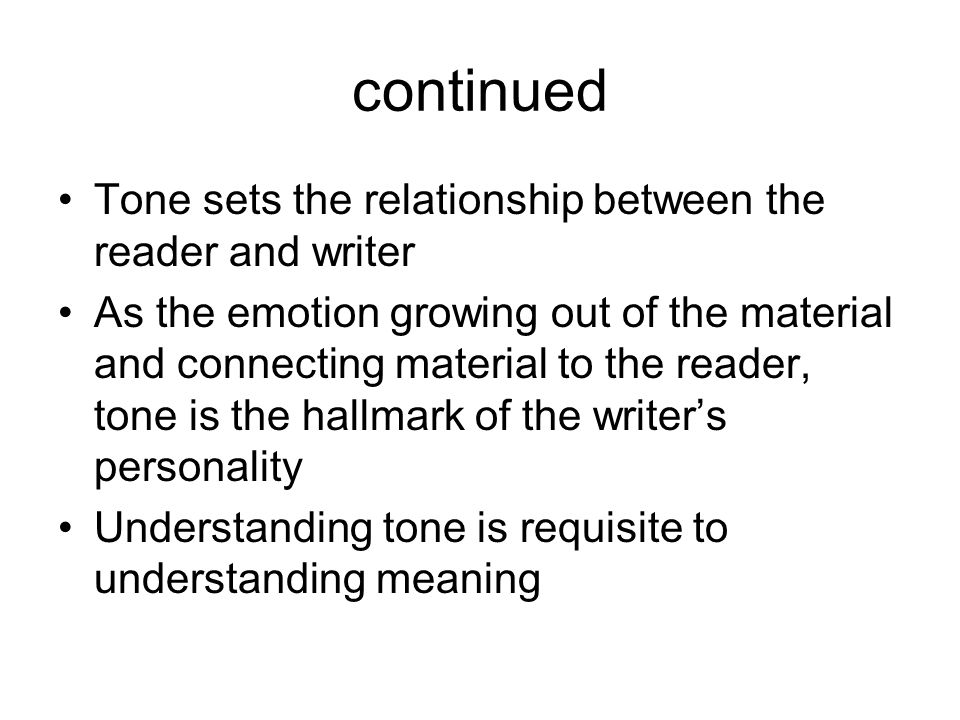 author and reader relationship