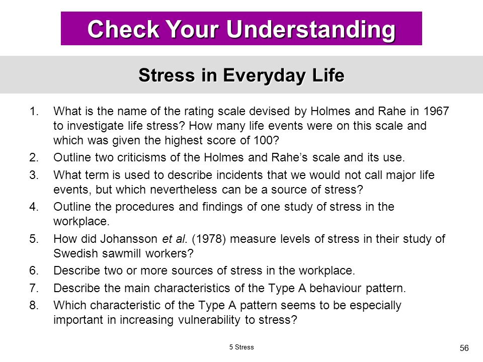 Stress and Everyday Life