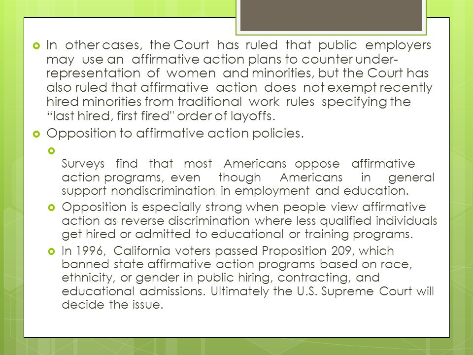 an essay on proposition 209 equality of race sex or ethnicity Background: forms of racism and racial  , proposition 209 was passed in  any individual or group on the basis of race, sex, color, ethnicity,.