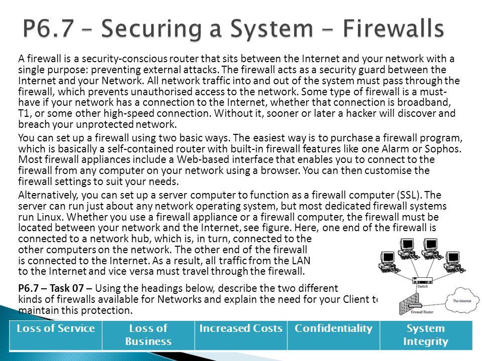 P6.7 – Securing a System - Firewalls