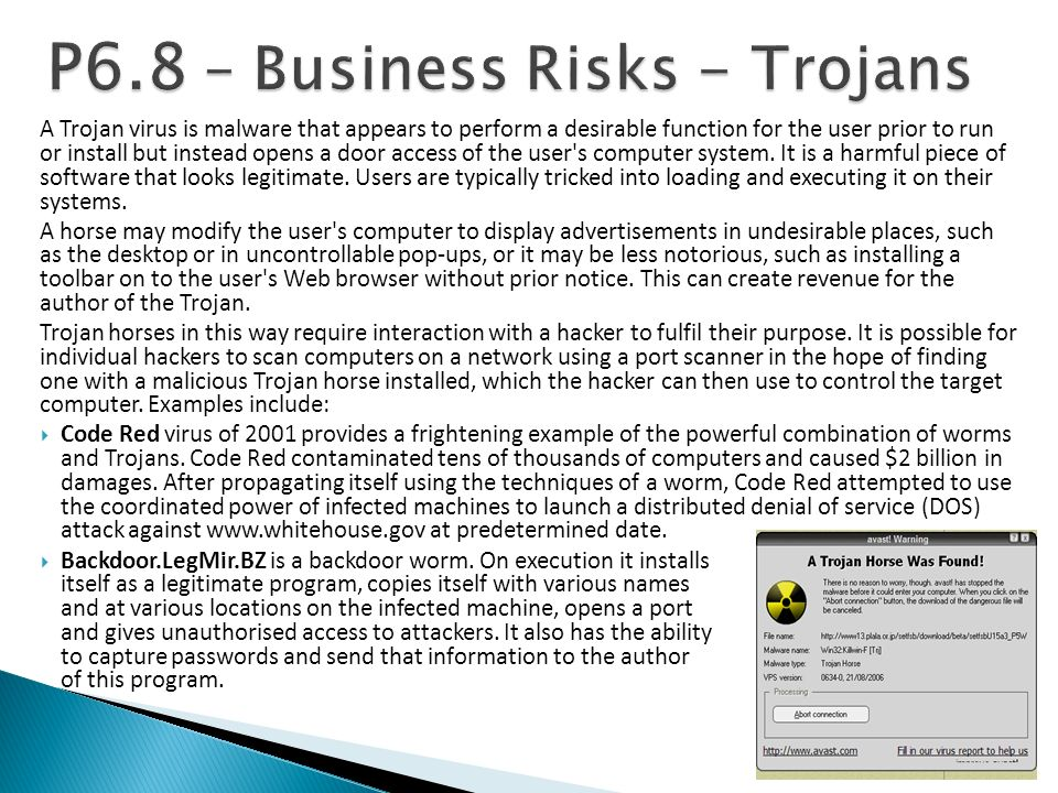 P6.8 – Business Risks - Trojans