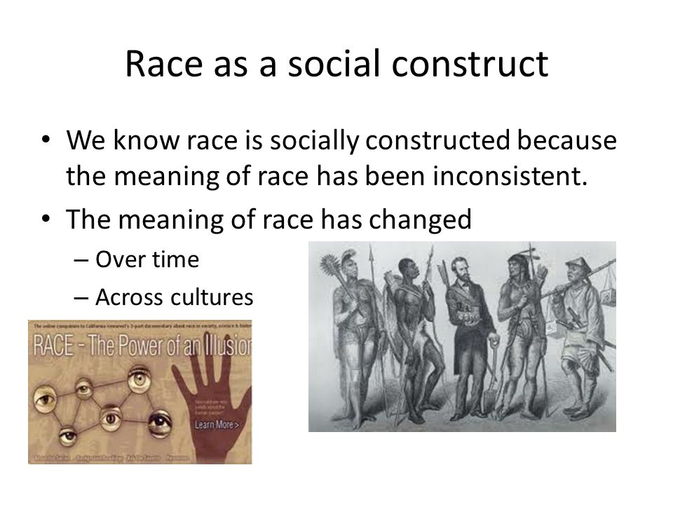 Is race only a human construct
