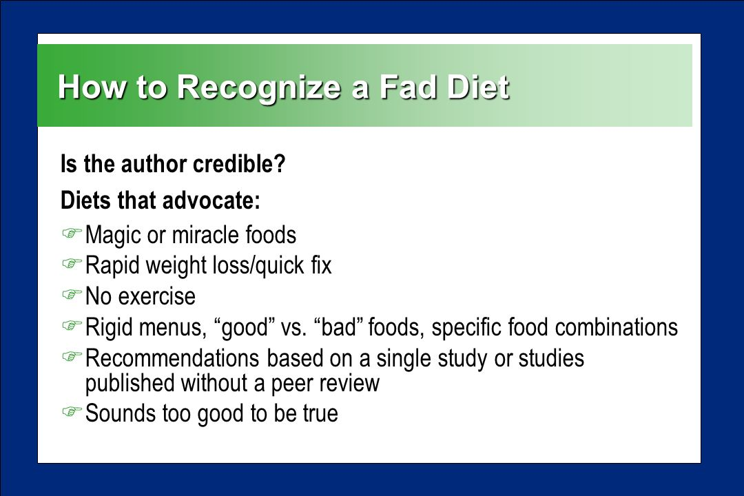 Setting the Record Straight: The Truth About Fad Diets ...