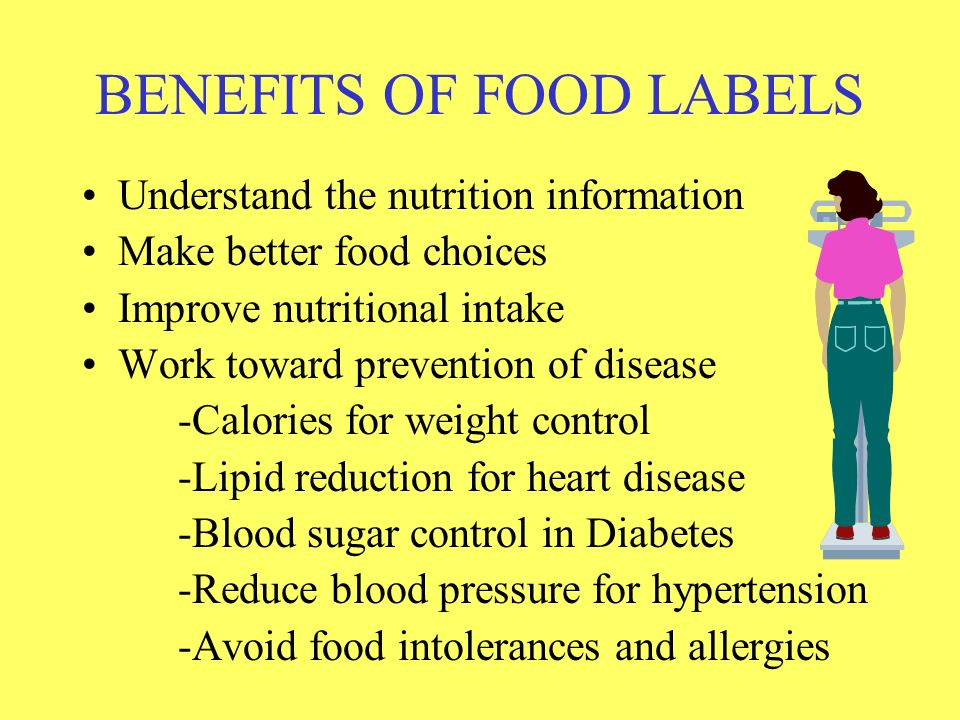 BENEFITS OF FOOD LABELS