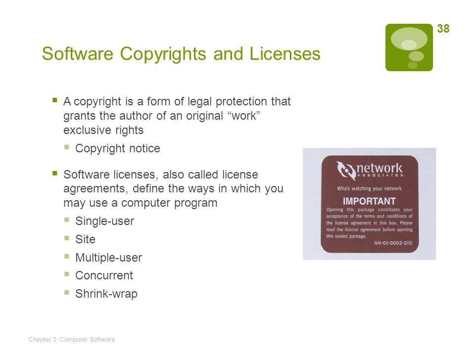 Software Copyrights And Licenses
