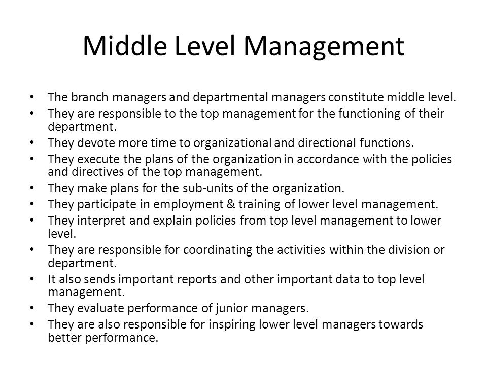 levels of management and their functions pdf