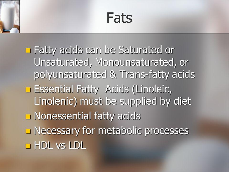 essential and nonessential fatty acids pdf