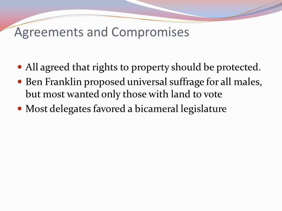 Agreements and Compromises