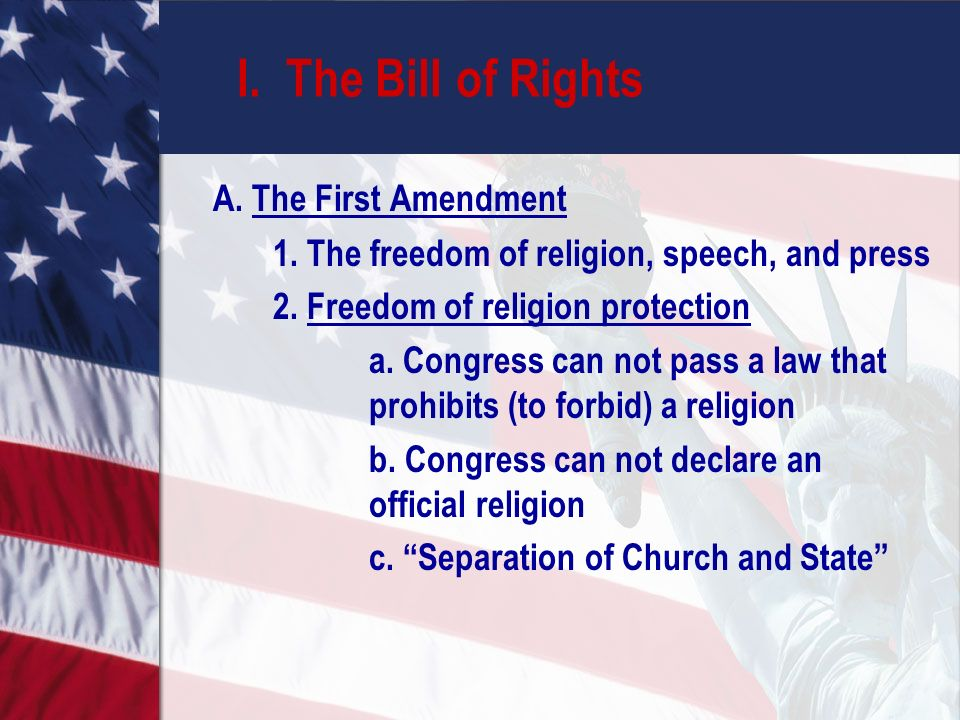 the freedom of speech in the churches This in turn leads to an emphasis on freedom of expression in the  of church  and state as well as the protection of a secular public space.