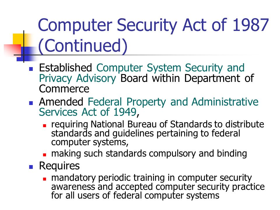 The Federal Property And Administrative Services Act Of