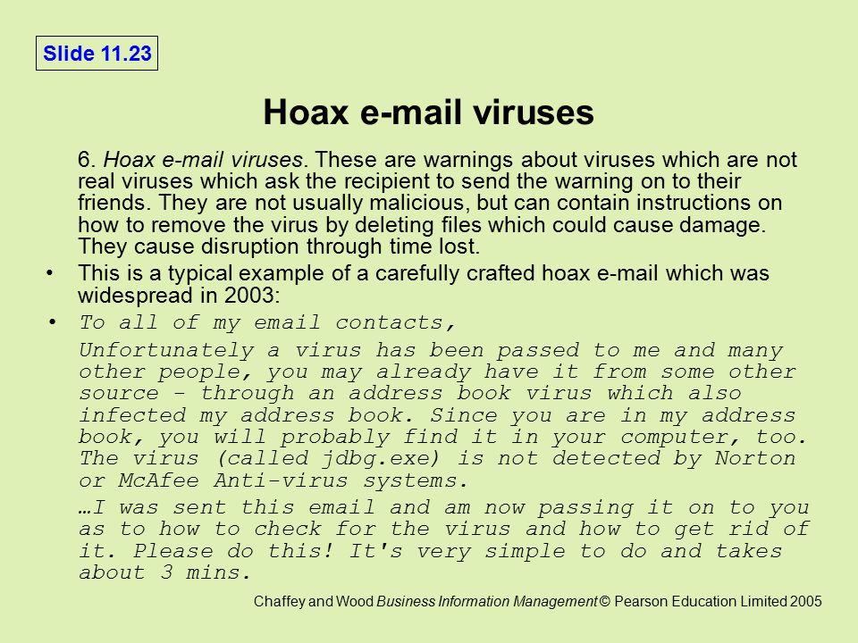 virus updating my address book