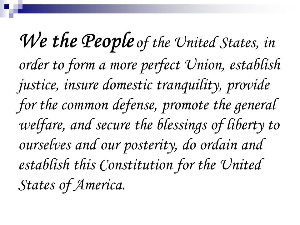 The Constitution The Constitution was written at the ...