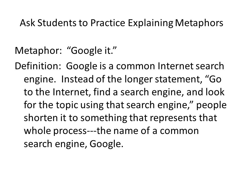 Searching for search engine metaphors. - Free Online Library