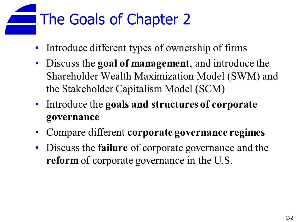 comparative corporate governance and financial goals The following corporate governance guidelines of the  operating plan and specific financial goals at the  financial information corporate governance.
