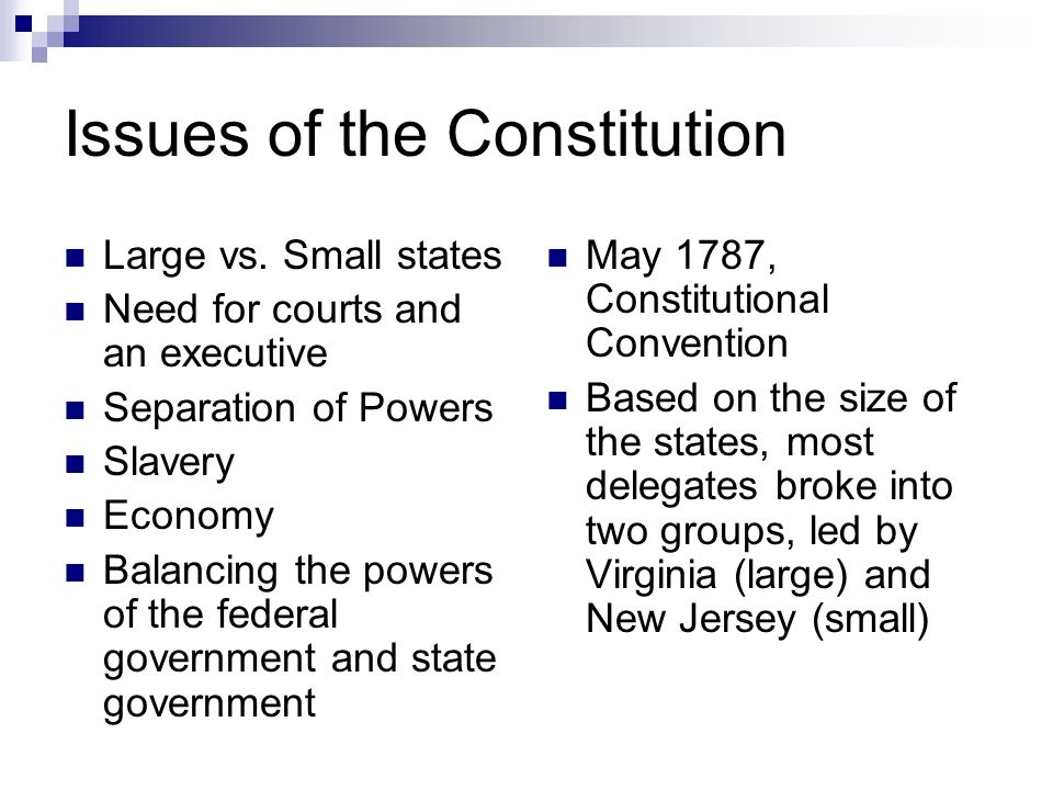 an analysis of the issues of the constitution The constitution of the united states of america analysis and interpretation analysis of cases decided by the  with a closer focus on issues that have arisen.