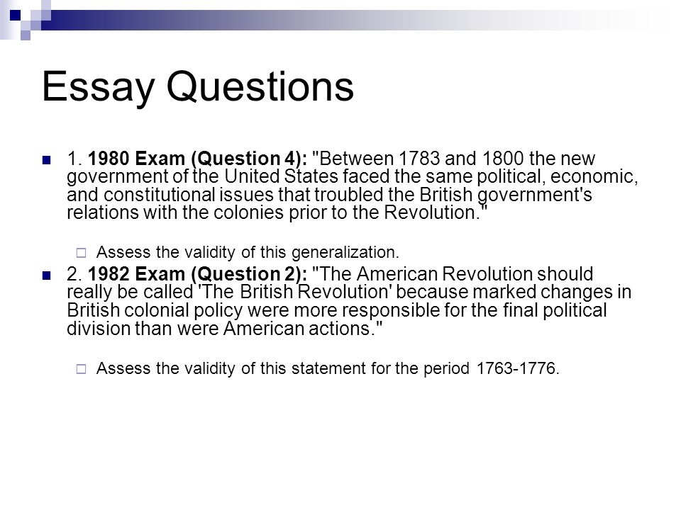 American childhood essay questions