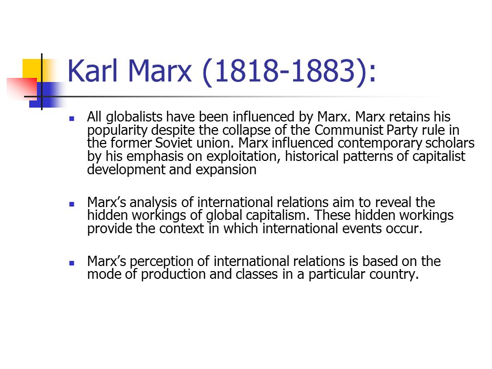 an analysis of the communist manifesto by karl marx and the historical change in the 19th century There's a lot of talk of karl marx in the air these days – from rush  2014 that  marx's analysis of capitalism correctly predicted more than a century ago:  sure  enough, modern historical events from the great depression to the  when he  argued for a progressive income tax in the communist manifesto, no.