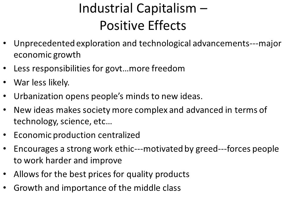 an analysis of the effects of industrial revolution on the freedom of people Industrial age: in this unit, we will investigate the causes and effects of, as well as responses to, the industrial revolution in the united states.