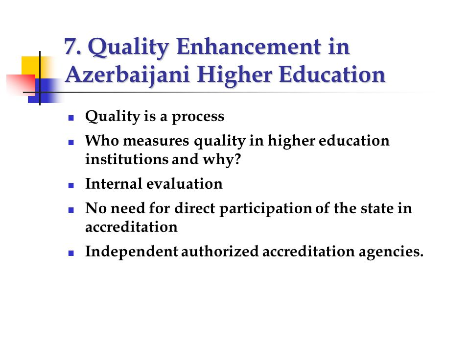 Academic Development and Quality Enhancement
