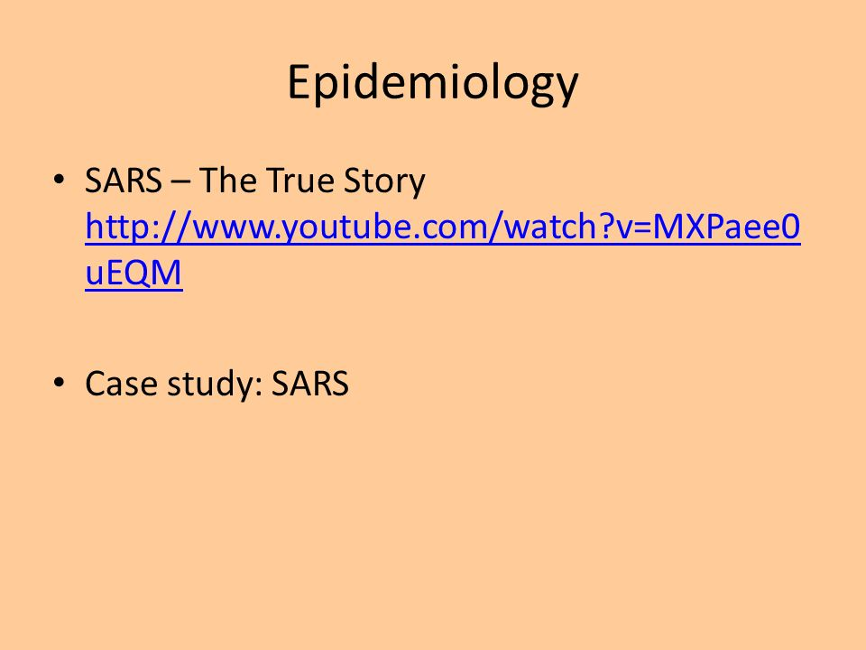 SARS Outbreak Study 1 - Columbia University