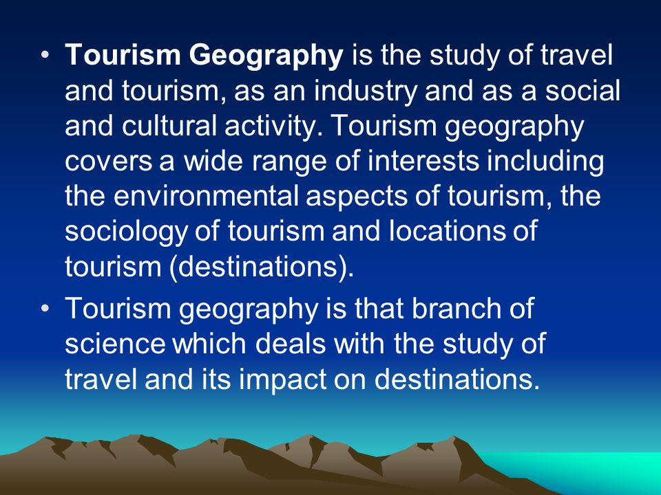 tourism and its types