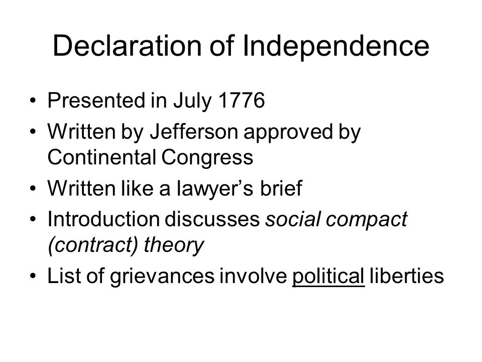 american gov the declaration of independence Declaration of independence collection a finding aid to the collection in the library of congress manuscript division, library of congress washington, dc.
