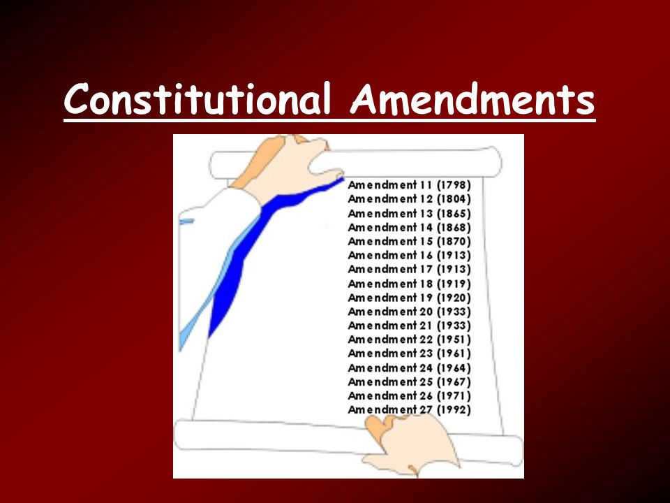 constitutional amendments The heritage guide to the constitution is intended to provide a brief and accurate explanation of each clause of the constitution  amendments 1 freedom of religion, speech, press, assembly,.