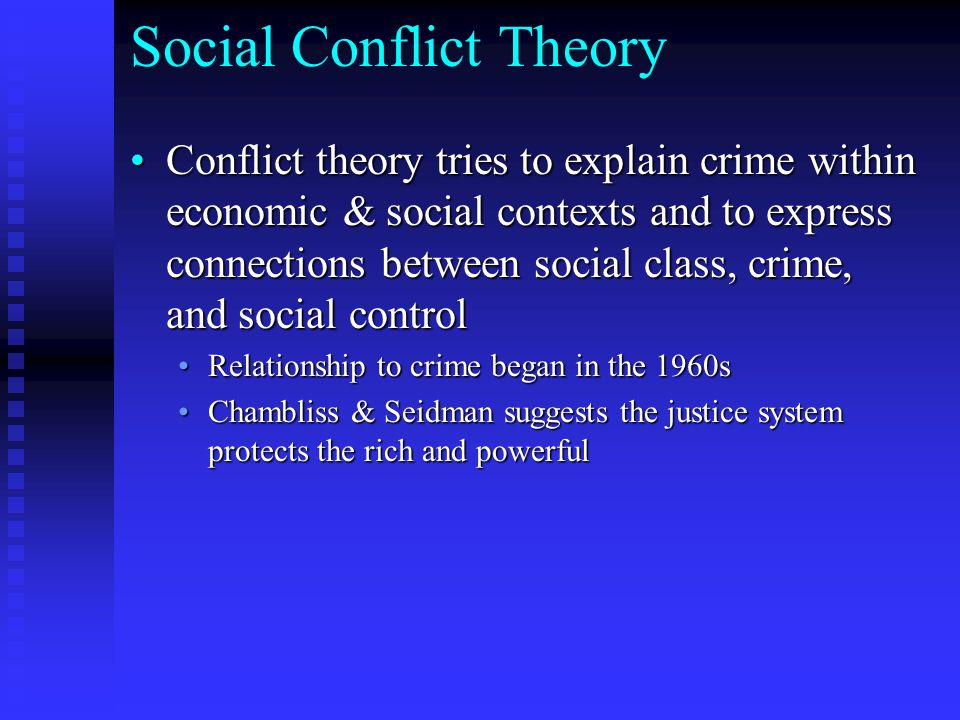 comparing conflict theory and social control Compare and contrast two sociological compare and contrast any two outline and assess the usefulness of conflict theories in explaining social class.