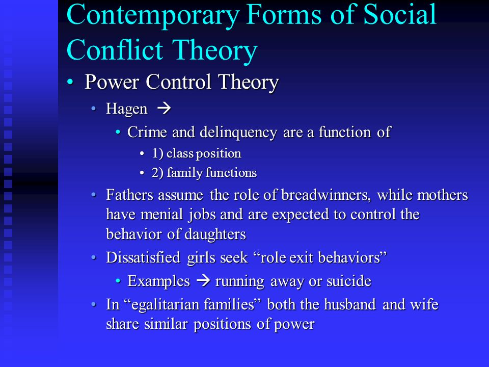 family social control Social control is a concept within the disciplines of the social sciences sociologists identify two basic forms of social control: informal means of control – internalization of norms and values by a process known as socialization, which is the process by which an individual, born with behavioral potentialities of enormously wide range, is.
