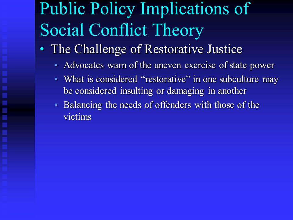 trait theory public policy implications Policy implications considering many of the critiques and  distinguishing life course and social and self-control theory  for public policy.