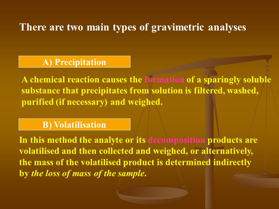 Gravimetric analysis of ca as cac2o4