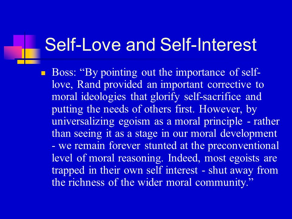 self interest or community interest By linda fisher thornton ethics means acting beyond self-interest ethics is fundamentally about acting beyond our own self-interests the community toolbox, university of kansas, kuedu what does all of this mean for leaders.