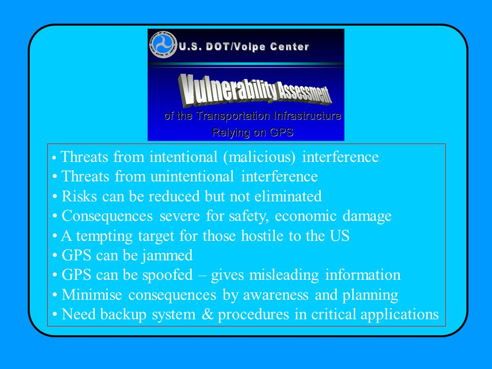 Threats from unintentional interference