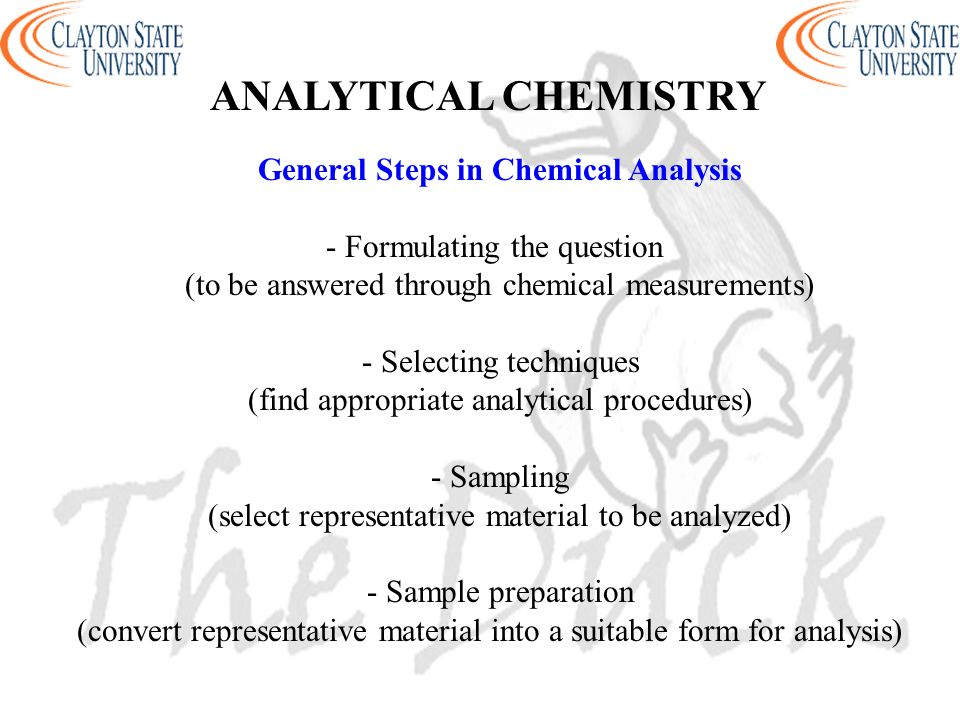 Analytical Chemistry Questions Sample Essay